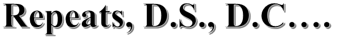 Classical Guitar Repeats, D.S., D.C…. 1