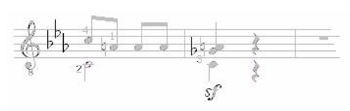 Note Symbols for Classical Guitar 14