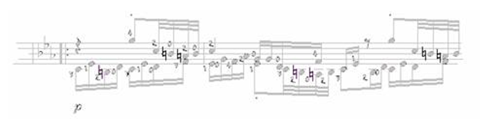Note Symbols for Classical Guitar 18