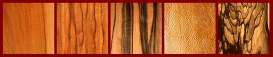 Apple, Asian Striped Padauk, Asian Striped Ebony, Birch Carbuncle Burl, Black & White Ebony for the Classical Guitar