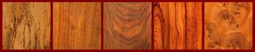 Spalted Tamarind, Tambotie, Texas Ebony, Thai Rosewood, Thuya Burl for the Classical Guitar