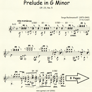 Prelude in G Minor Op 23 #5