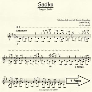 Sadko Song of India